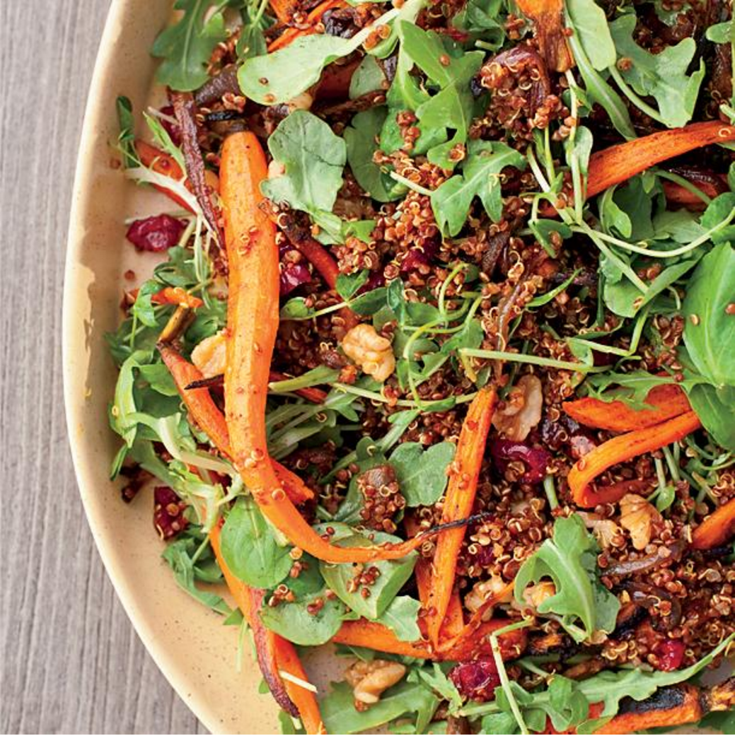 Roasted carrot and Quinoa Salad